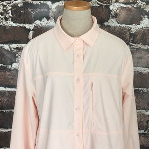 The North Face Hiking Shirt Flash Dry Pink Large